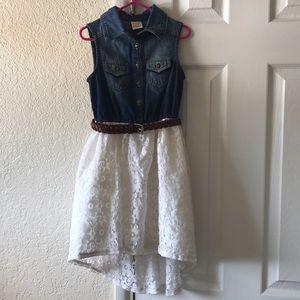 Girl's Arizona Denim and Lace Tank Dress size 6